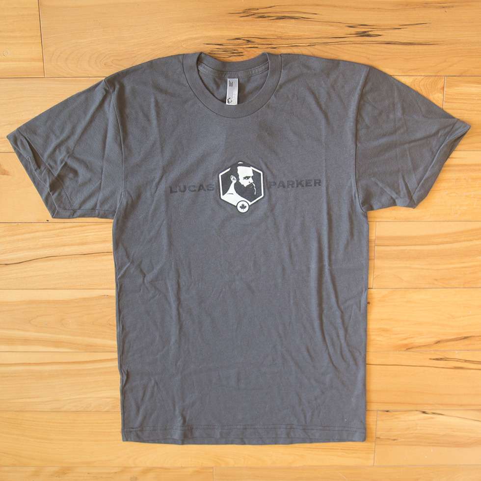 Lucas Parker Team T-Shirt: Men´s Asphalt
