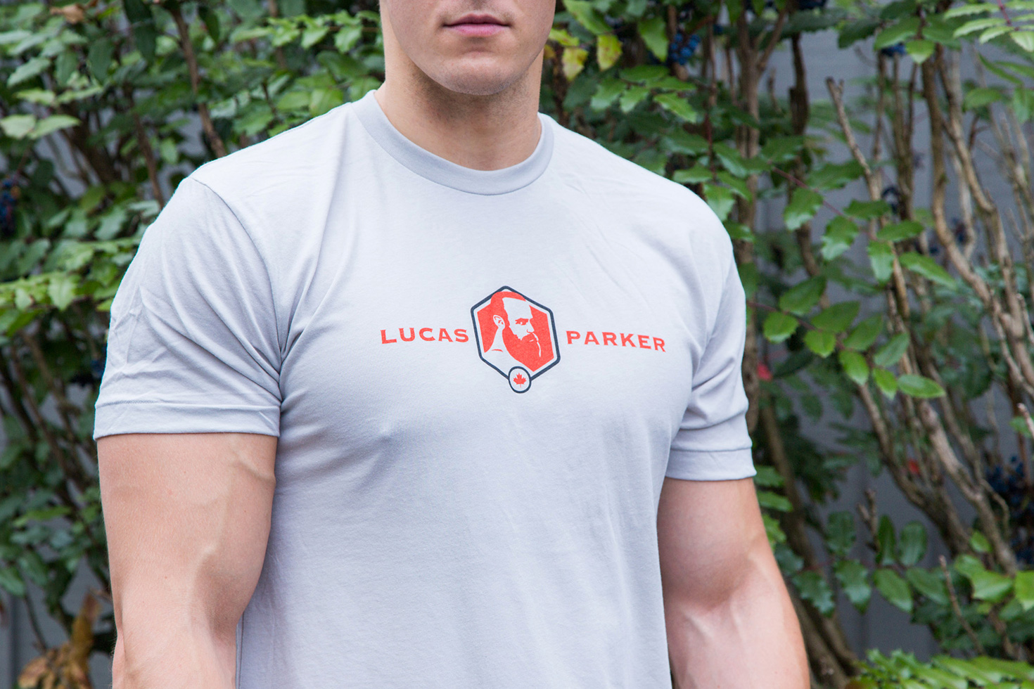 Lucas Parker Team T-Shirt: Men´s New Silver