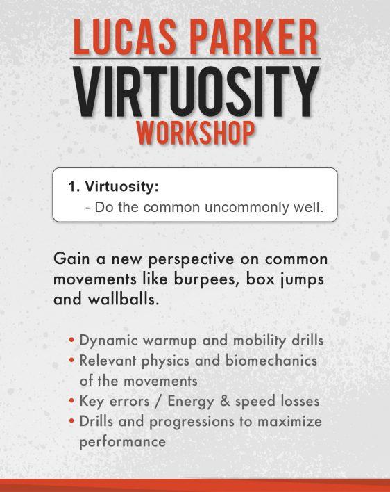 Lucas Parker Virtuosity Workshop - CrossFit Indrestri